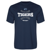 Performance Navy Tee-Tigers Softball w/ Seams