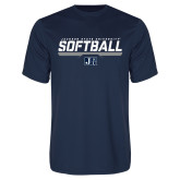 Syntrel Performance Navy Tee-Jackson State Softball Stencil w/ Underline