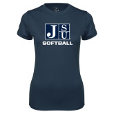 Ladies Syntrel Performance Navy Tee-Softball
