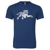 Next Level Vintage Navy Tri Blend Crew-Tiger
