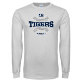 White Long Sleeve T Shirt-Tigers Softball w/ Seams