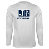 Syntrel Performance White Longsleeve Shirt-Football