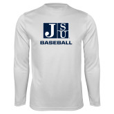 Syntrel Performance White Longsleeve Shirt-Baseball