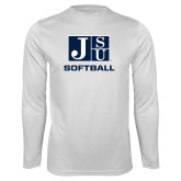 Performance White Longsleeve Shirt-Softball