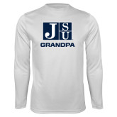 Performance White Longsleeve Shirt-Grandpa
