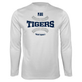 Performance White Longsleeve Shirt-Tigers Softball w/ Seams