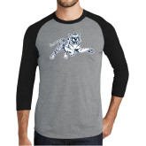 Grey/Black Tri Blend Baseball Raglan-Tiger