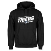 Black Fleece Hoodie-Tigers Slanted w/Tiger