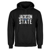 Black Fleece Hoodie-Jackson State Stacked w/ Logo