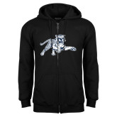 Black Fleece Full Zip Hoodie-Tiger