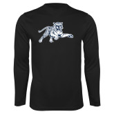 Performance Black Longsleeve Shirt-Tiger