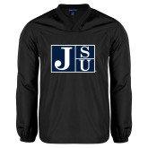 V Neck Black Raglan Windshirt-Official Logo