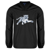 V Neck Black Raglan Windshirt-Tiger