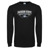 Black Long Sleeve TShirt-Jackson State Tigers Arched w/ Outline