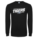 Black Long Sleeve TShirt-Tigers Slanted w/Tiger