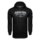 Under Armour Black Performance Sweats Team Hoodie-Jackson State Tigers Arched w/ Outline