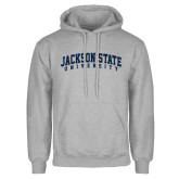 Grey Fleece Hoodie-Arched Jackson State University