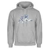 Grey Fleece Hood-Tiger