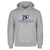 Grey Fleece Hoodie-JSU Jackson State University Stacked