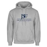 Grey Fleece Hood-JSU Jackson State University Stacked
