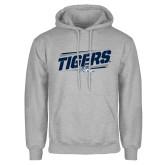 Grey Fleece Hood-Tigers Slanted w/Tiger