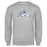 Grey Fleece Crew-Tiger