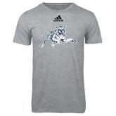 Adidas Sport Grey Logo T Shirt-Tiger
