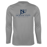 Performance Steel Longsleeve Shirt-JSU Jackson State University Stacked