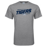 Grey T Shirt-Tigers Slanted w/Tiger