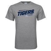 Grey T Shirt-Tigers Slanted w/Tiger