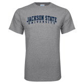 Grey T Shirt-Arched Jackson State University