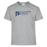 Youth Grey T-Shirt-JSU Jackson State University