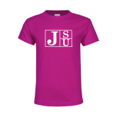 Youth Cyber Pink T Shirt-Official Logo