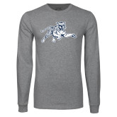 Grey Long Sleeve T Shirt-Tiger