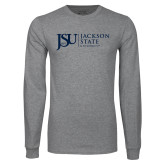 Grey Long Sleeve T Shirt-JSU Jackson State University