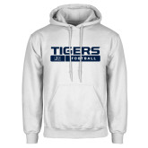 White Fleece Hoodie-Tigers Football w/ Bar