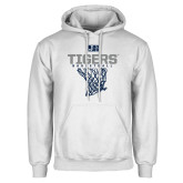 White Fleece Hoodie-Tigers Basketball w/ Hanging Net