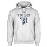 White Fleece Hood-Tigers Basketball w/ Hanging Net