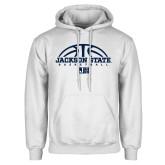 White Fleece Hood-Jackson State Basketball Half Ball