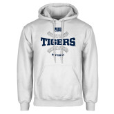 White Fleece Hoodie-Tigers Softball w/ Seams