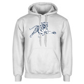 White Fleece Hoodie-Tiger