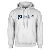 White Fleece Hoodie-JSU Jackson State University