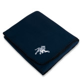 Navy Arctic Fleece Blanket-Tiger