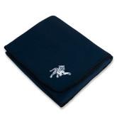 Navy Arctic Fleece Blanket-Tiger