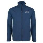 Navy Softshell Jacket-Arched Jackson State University