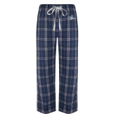 Navy/White Flannel Pajama Pant-Tiger