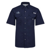 Columbia Bonehead Navy Short Sleeve Shirt-Tiger