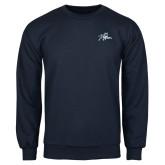 Navy Fleece Crew-Tiger