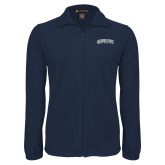 Fleece Full Zip Navy Jacket-Arched Jackson State University