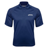Navy Textured Saddle Shoulder Polo-Arched Jackson State University